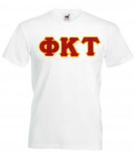 DISCOUNT- Phi Kappa Tau Lettered V-Neck T-Shirt