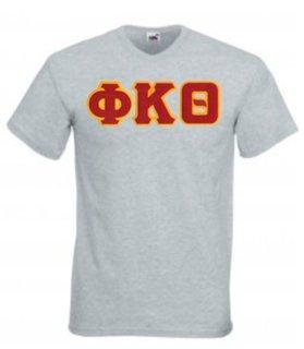 DISCOUNT- Phi Kappa Theta Lettered V-Neck T-Shirt