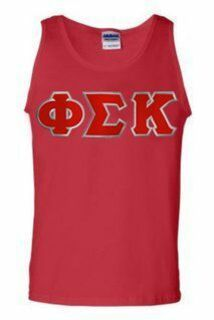 DISCOUNT- Phi Sigma Kappa Lettered Tank Top