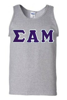 $18 Sigma Alpha Mu Lettered Tank Top