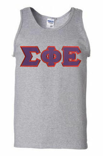 DISCOUNT- Sigma Phi Epsilon Lettered Tank Top