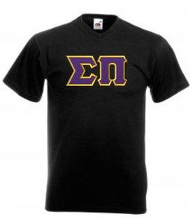DISCOUNT- Sigma Pi Lettered V-Neck T-Shirt
