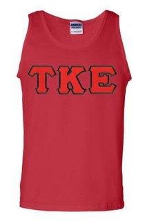 DISCOUNT- Tau Kappa Epsilon Lettered Tank Top
