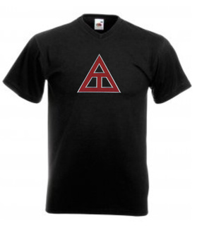 DISCOUNT- Triangle Fraternity Lettered V-Neck Tee