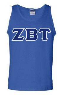 DISCOUNT- Zeta Beta Tau Lettered Tank Top