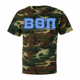 DISCOUNT- Beta Theta Pi Lettered Camouflage T-Shirt