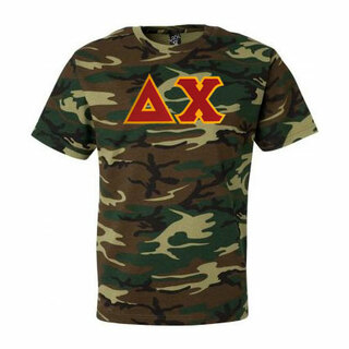 DISCOUNT- Delta Chi Lettered Camouflage T-Shirt