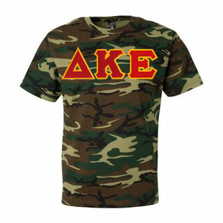 DISCOUNT- Delta Kappa Epsilon Lettered Camouflage T-Shirt