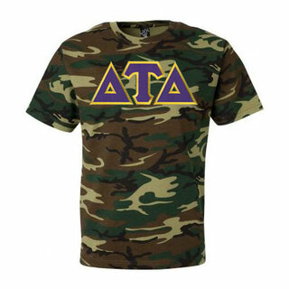 DISCOUNT- Delta Tau Delta Lettered Camouflage T-Shirt