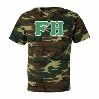 DISCOUNT- FarmHouse Fraternity Lettered Camouflage T-Shirt