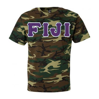 DISCOUNT- FIJI Fraternity Lettered Camouflage T-Shirt