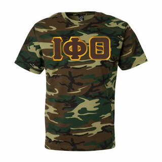 DISCOUNT- Iota Phi Theta Lettered Camouflage T-Shirt