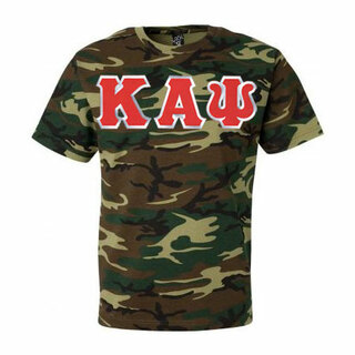 DISCOUNT- Kappa Alpha Psi Lettered Camouflage T-Shirt
