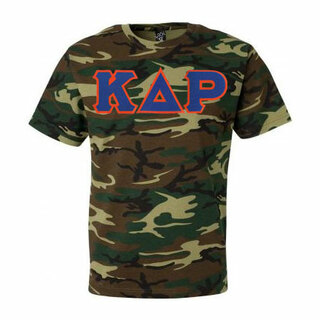 DISCOUNT- Kappa Delta Rho Lettered Camouflage T-Shirt