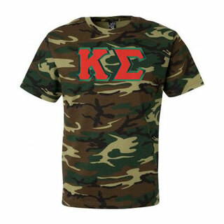DISCOUNT- Kappa Sigma Lettered Camouflage T-Shirt