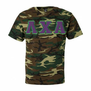 DISCOUNT- Lambda Chi Alpha Lettered Camouflage T-Shirt