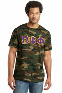 DISCOUNT- Omega Psi Phi Lettered Camouflage T-Shirt