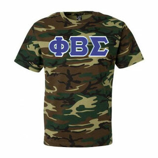 DISCOUNT- Phi Beta Sigma Lettered Camouflage T-Shirt