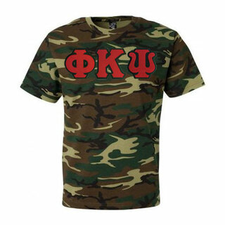 DISCOUNT- Phi Kappa Psi Lettered Camouflage T-Shirt