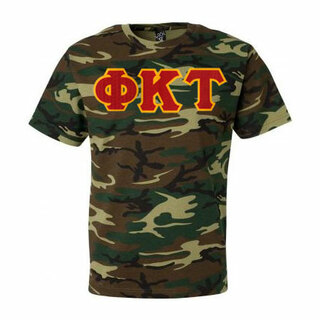DISCOUNT- Phi Kappa Tau Lettered Camouflage T-Shirt
