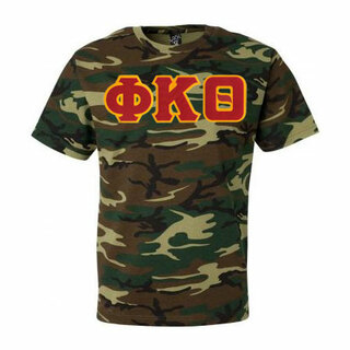 DISCOUNT- Phi Kappa Theta Lettered Camouflage T-Shirt