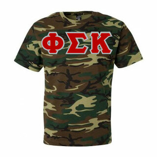 $19.95 Phi Sigma Kappa Lettered Camouflage T-Shirt