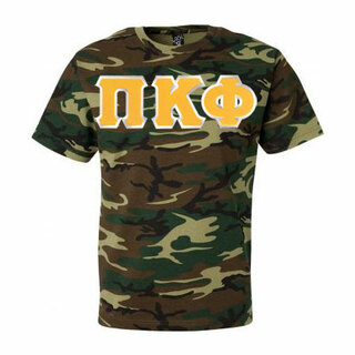DISCOUNT- Pi Kappa Phi Lettered Camouflage T-Shirt