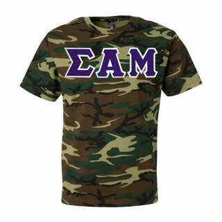 DISCOUNT- Sigma Alpha Mu Lettered Camouflage T-Shirt