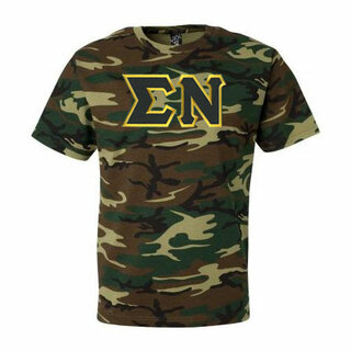 DISCOUNT- Sigma Nu Lettered Camouflage T-Shirt