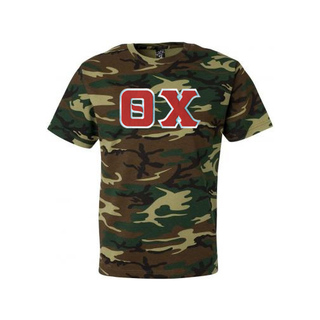 DISCOUNT- Theta Chi Lettered Camouflage T-Shirt