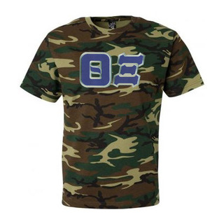 DISCOUNT- Theta Xi Lettered Camouflage T-Shirt