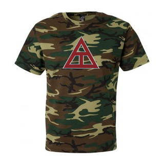 DISCOUNT- Triangle Fraternity Lettered Camouflage T-Shirt