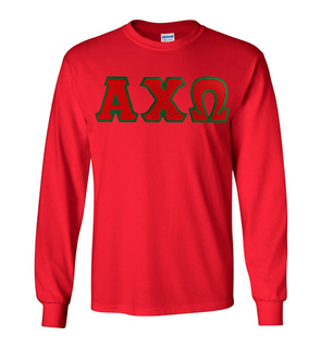 DISCOUNT Alpha Chi Omega Lettered Long Sleeve Tee