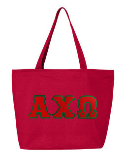 DISCOUNT- Alpha Chi Omega Lettered Tote Bag