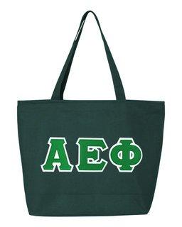 DISCOUNT- Alpha Epsilon Phi Lettered Tote Bag