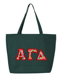 $19.99 Alpha Gamma Delta Custom Satin Stitch Tote Bag