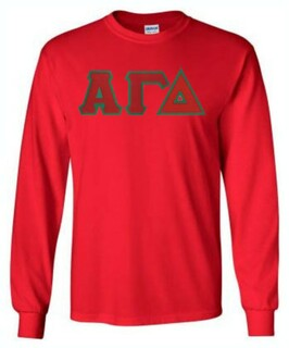 $19.99 Alpha Gamma Delta Lettered Long Sleeve Tee