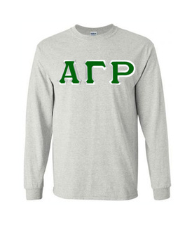 Alpha Gamma Rho Custom Twill Long Sleeve T-Shirt