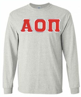 $19.99 Alpha Omicron Pi Lettered Long Sleeve Tee