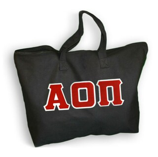 DISCOUNT- Alpha Omicron Pi Lettered Tote Bag