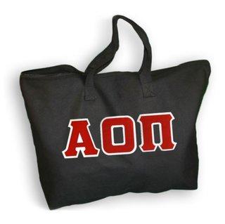 DISCOUNT- Alpha Omicron Pi Lettered Tote Bag