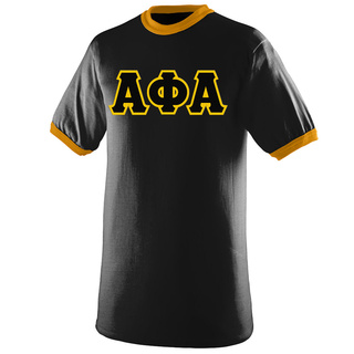 DISCOUNT- Alpha Phi Alpha Lettered Ringer Shirt