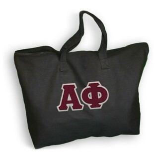 DISCOUNT- Alpha Phi Lettered Tote Bag