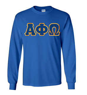 $19.99 Alpha Phi Omega Lettered Long Sleeve Tee