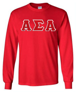 DISCOUNT Alpha Sigma Alpha Lettered Long Sleeve Tee