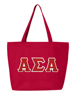 DISCOUNT- Alpha Sigma Alpha Lettered Tote Bag