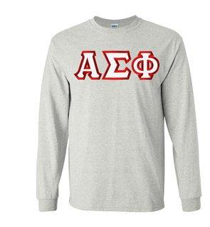 Alpha Sigma Phi Custom Twill Long Sleeve T-Shirt