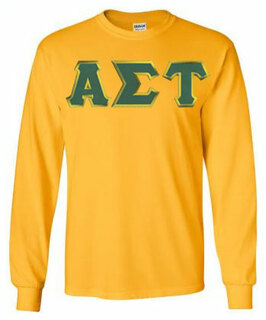 DISCOUNT Alpha Sigma Tau Lettered Long Sleeve Tee