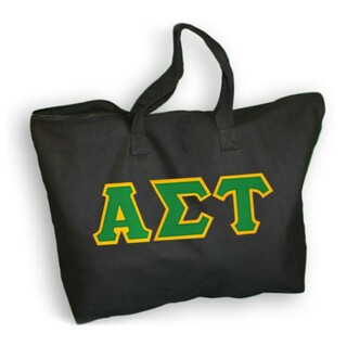 DISCOUNT- Alpha Sigma Tau Lettered Tote Bag