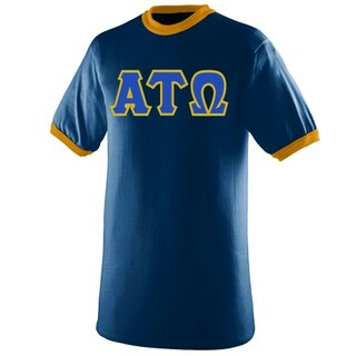 DISCOUNT- Alpha Tau Omega Lettered Ringer Shirt